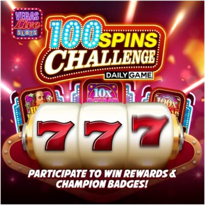 100 spins daily challenge at Vegas slots live game app