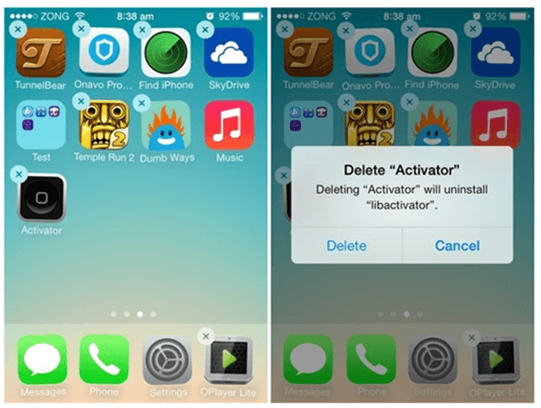 Delete unwanted apps