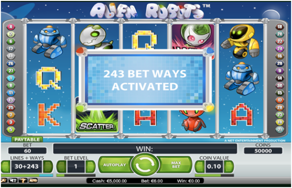243 ways to pokies game features