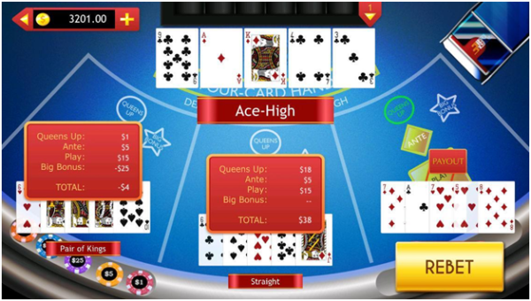 4 card hand poker