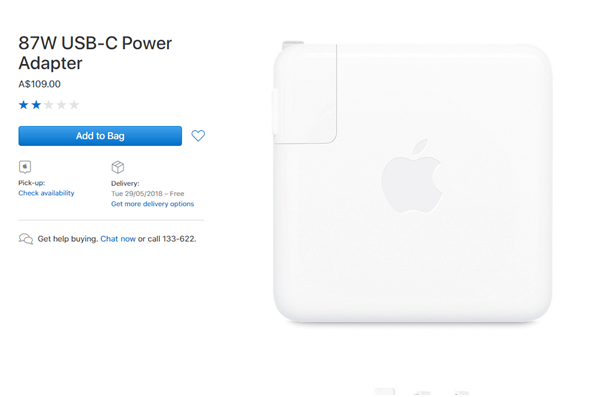 Apple 87 W USB C Power Adaptor