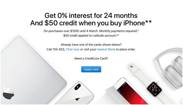 Apple Australia offer