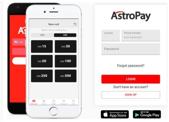 Astropay casinos deposits