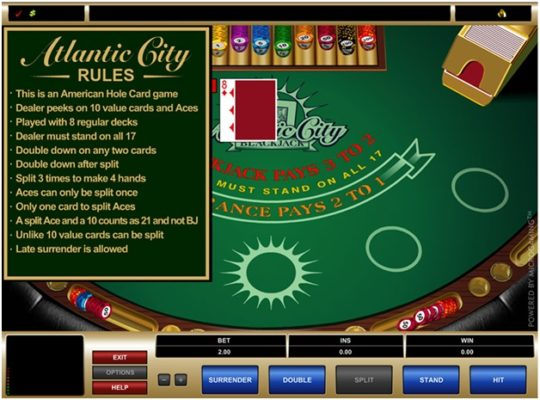 Atlantic City Blackjack on iPhone