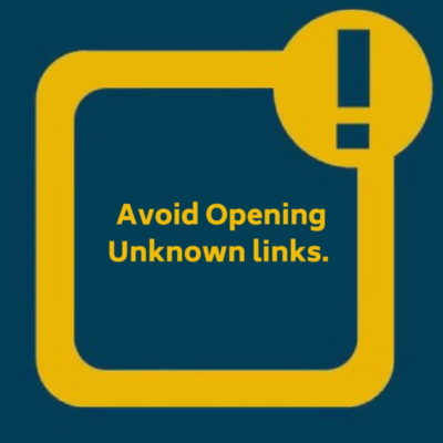 Avoid opening unknown links