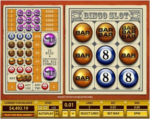 Bingo slot 5 line- Top game