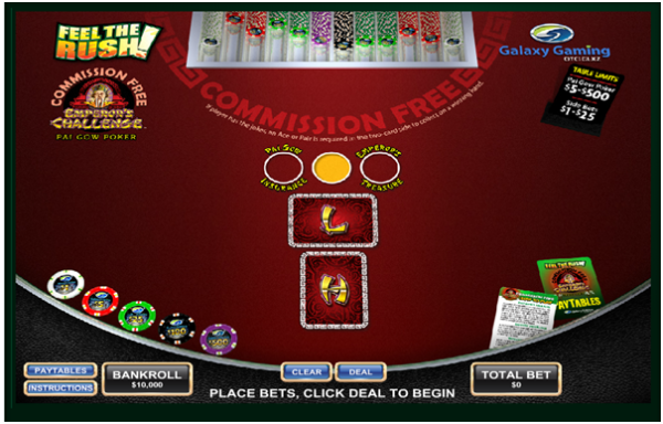 Commission free pai gow