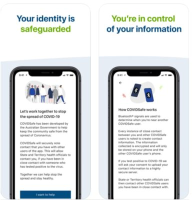 Covid safe app Australia Privacy