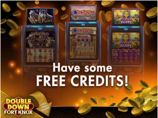 How to get more free credits at Double Down Fort Knox iPhone casino app?