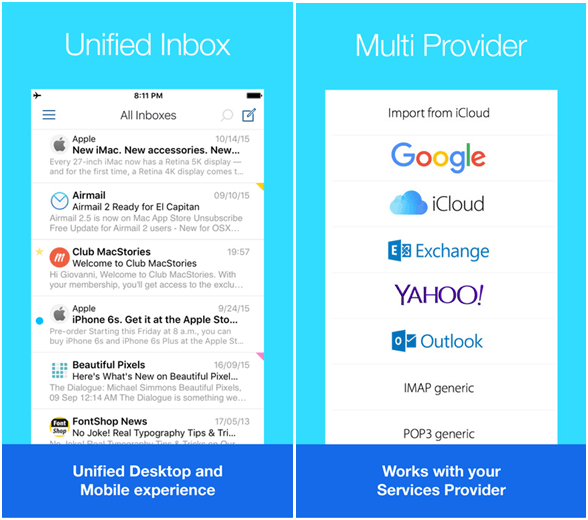 Email App for iPhone