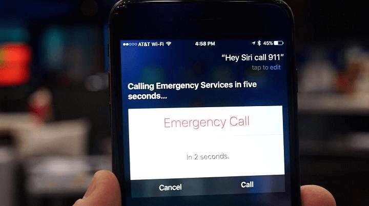 Siri 911 iPhone