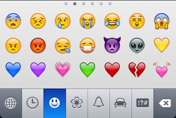 Emoticons in iPhone