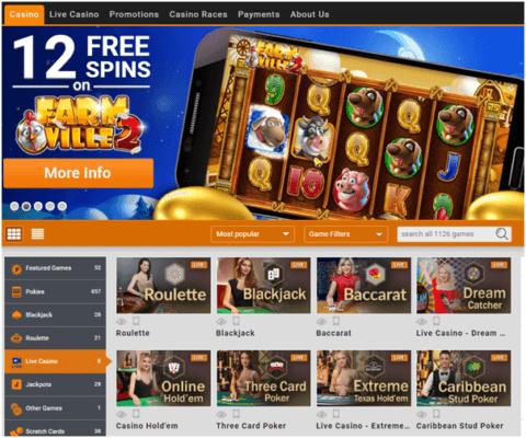 Emu Casino AUD- Games Mobile