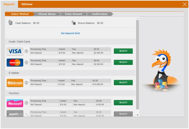 Emu Casino - Deposit in AUD or BTC