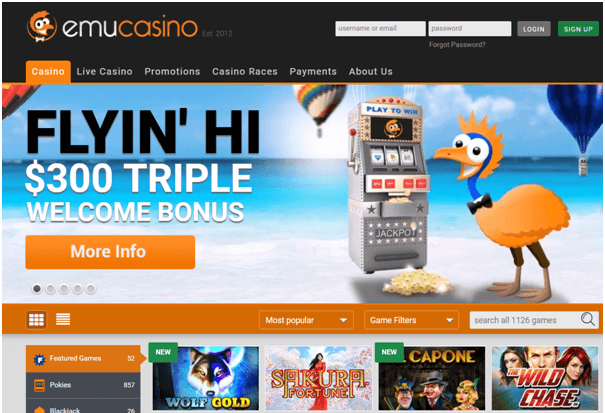 Emu casino latest bonus