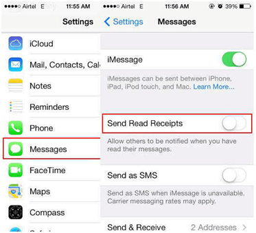 Enable-Disable Read Receipts