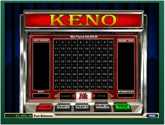 Fair go online casino Keno game