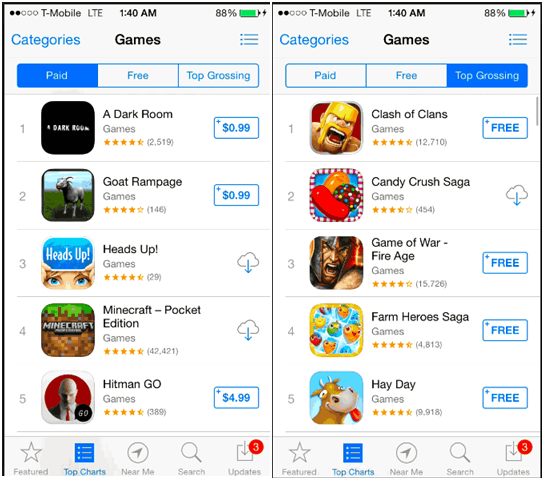 Games at iTunes