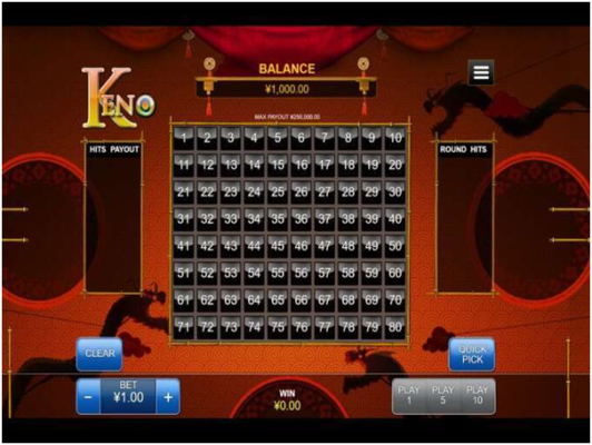Keno games from RTG