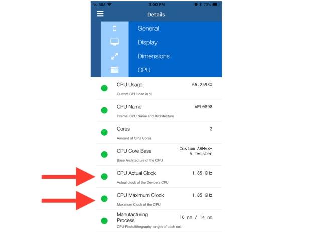 Lirum Info Lite App to detect iPhone slowing down