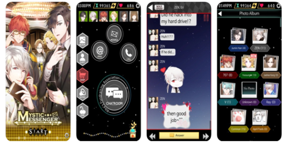 Mystic Messenger game app
