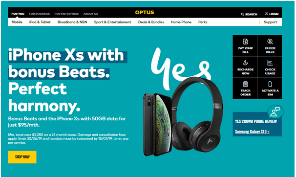 Free offer from Optus Australia