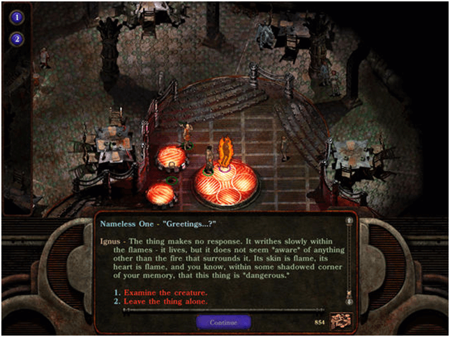 Planescape game app story