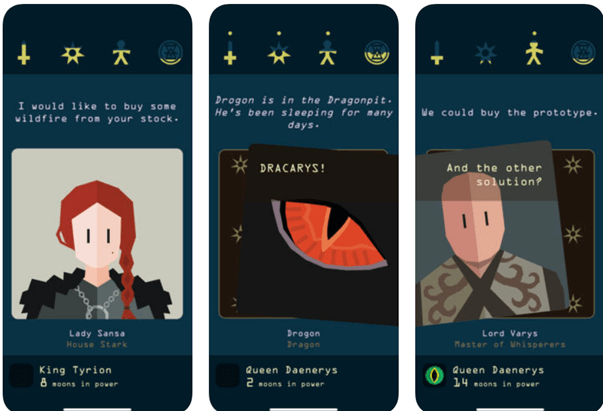 Reigns Game of Thrones app