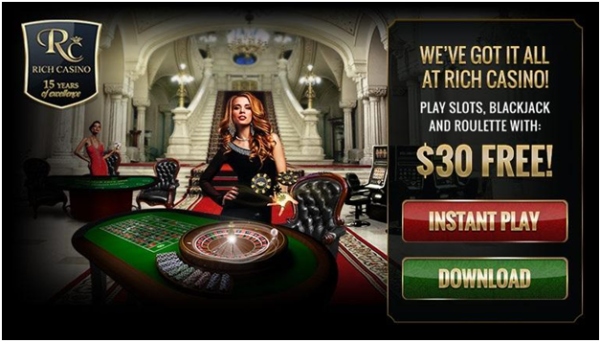 How to claim a free chip with a code at Rich Casino