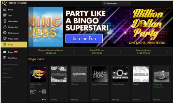 Rich casino bingo
