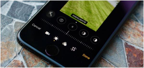Slider in Photo app
