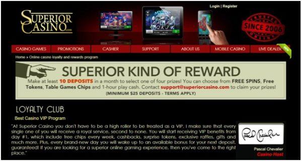 Superior Casino VIP