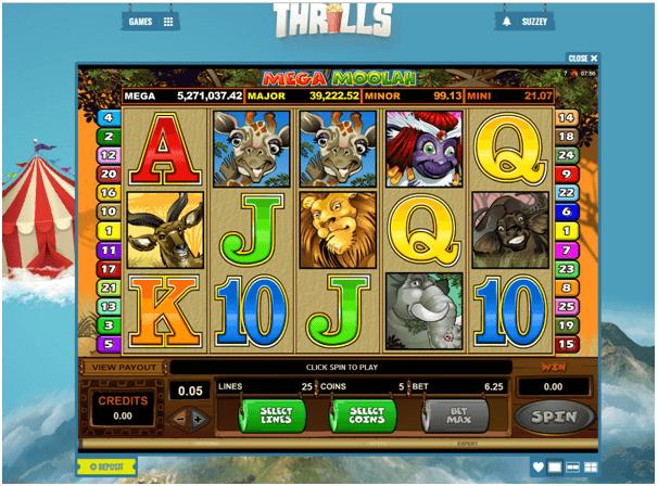 Thrills Casino Mega Moolah