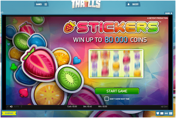 Thrills Casino Sticker Pokies Game