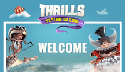 Thrills Casino Welcome Page