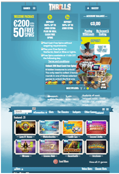 Thrills Casino Design And Theme