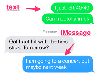 Using Imessage