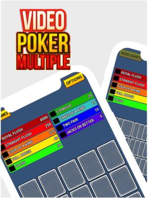 Video poker multiple hands
