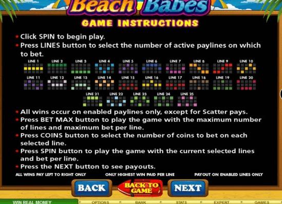 Beach- Rules