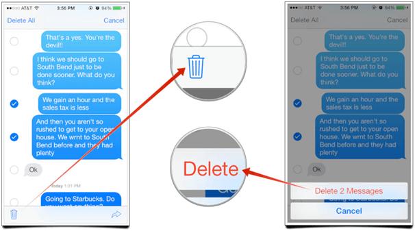 Delete Text Message