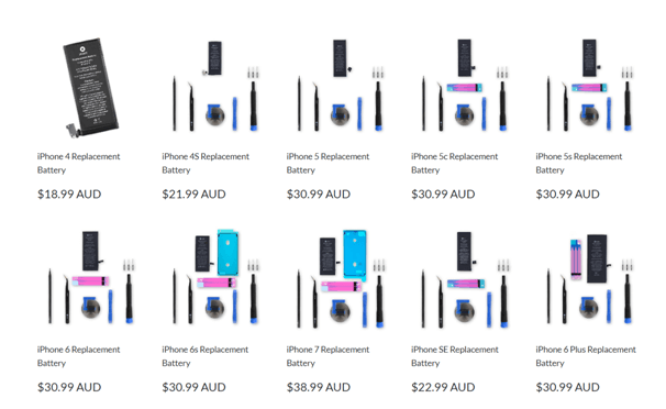 iFixit discounts on iphone battery