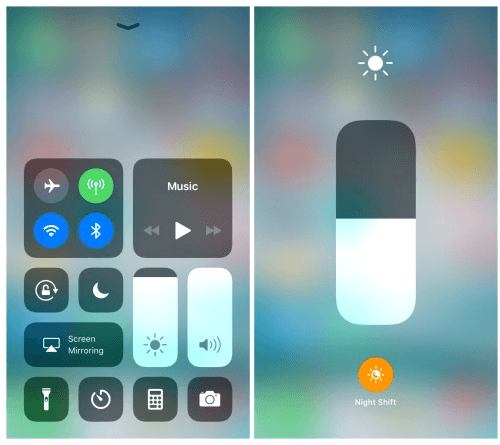 iOS 11 and fixes- The night shift feature