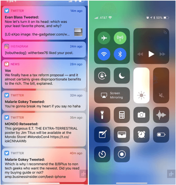 iPhone X- How to view notifications