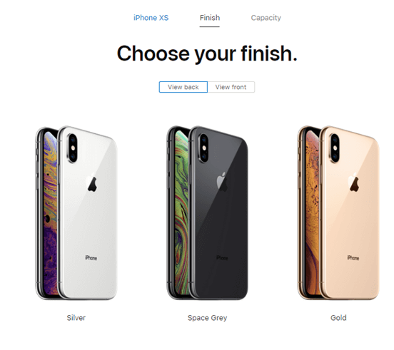 iPhone Xs- Colors