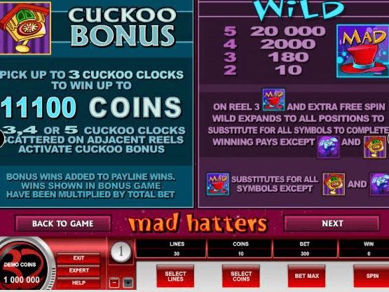 Mad -Hatters- Bonus