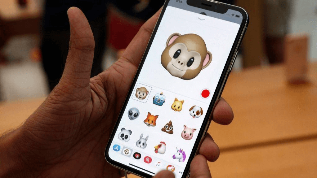 Sending an animoji