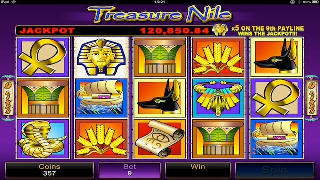Treasure Nile Pokies - Click to Play